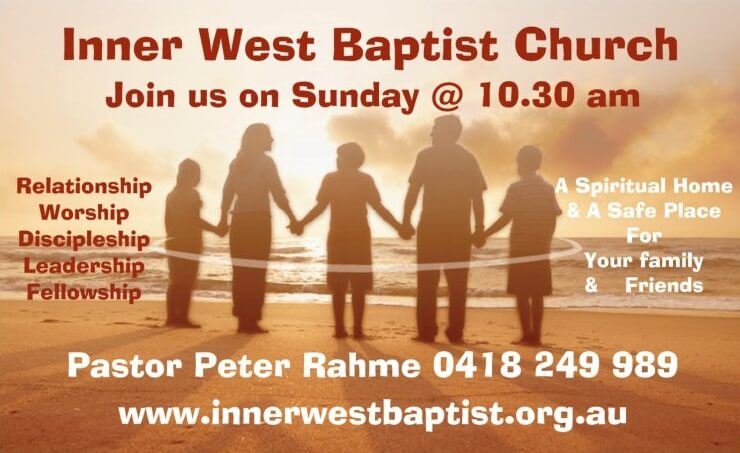 join us at inner west baptist church